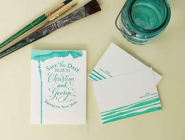 water color: Watercolor Wedding, Hands Stamps, Save The Date, Diy Watercolor, Watercolor Save, Stamps Watercolor, Diy Series, Water Colors, Watercolor Invitations