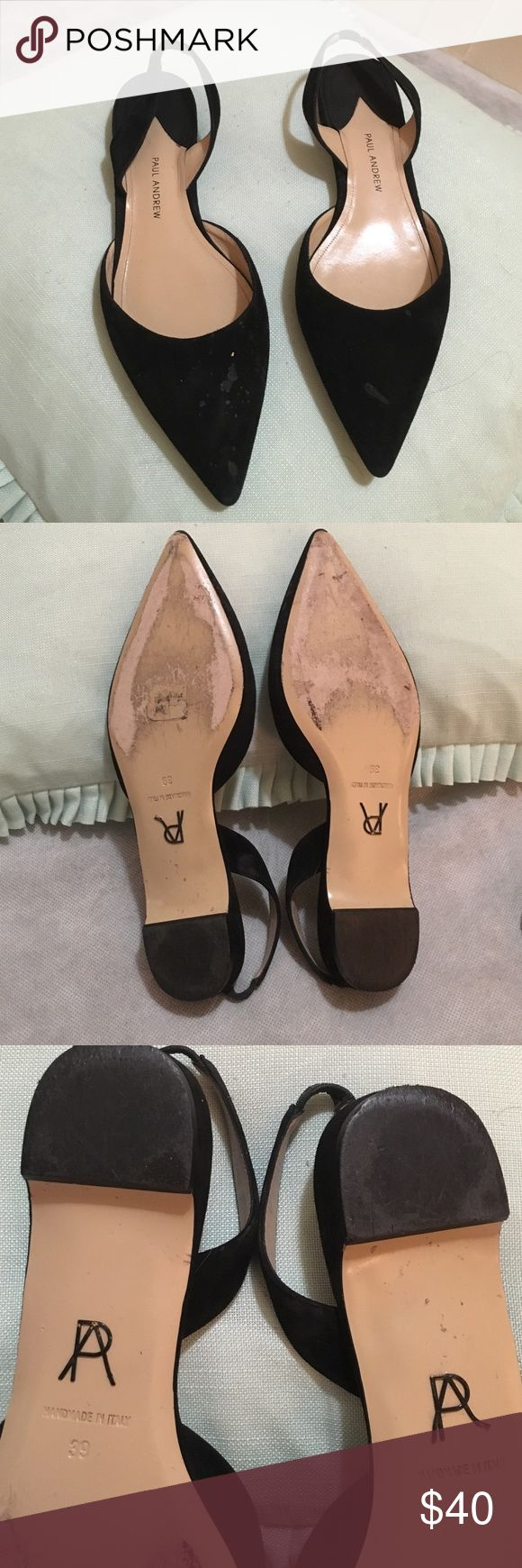 Paul andrew pointy toe flats Paul Andrew flats. Used condition but still a great shoe! Slingback flats with a pointed toe paul andrew Shoes Flats & Loafers