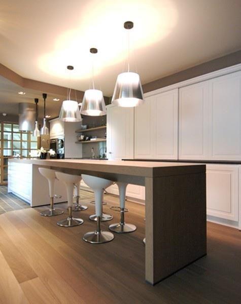 cuisine avec coin repas en bout de l 39 lot central cuisines pinterest pi ces de monnaie. Black Bedroom Furniture Sets. Home Design Ideas