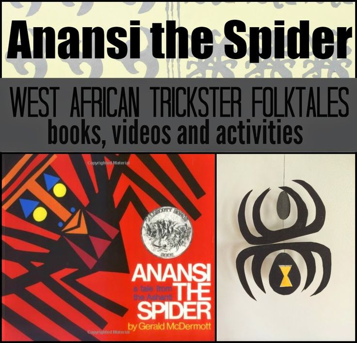 Marie's Pastiche: Anansi Stories - Trickster Tales from West Africa with books, videos, crafts & activities