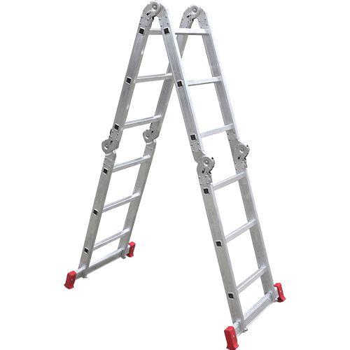 Americanas Escada Multifuncional Alumínio Articulada 3x4 12 Degraus 14 Posições - Botafogo Lar e Lazer - R$175