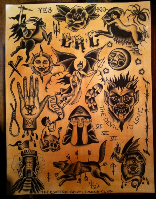 occult tattoo flash | Outlaw Tattoo | Pinterest | Occult ...