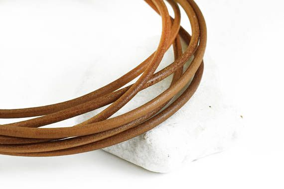 Leather Cord 4mm Natural Greek Leather Cord Necklace Cord