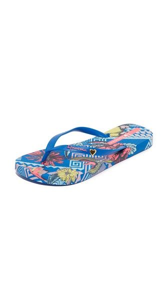 Get this Ipanema's flip flops now! Click for more details. Worldwide shipping. Ipanema Carmen Flip Flops: A vibrant tropical pattern details the footbed on these colorful Ipanema flip-flops. Rubber sole. Fabric: Rubber. Imported, Brazil. (chanclas, chanclas de baño, sandalia baño, sandalia, pescador, chancleta, flip flops, sports, chancla, flipflops, flipflops, sandalia pata de gallo, tong, ciabatte, chanclas)