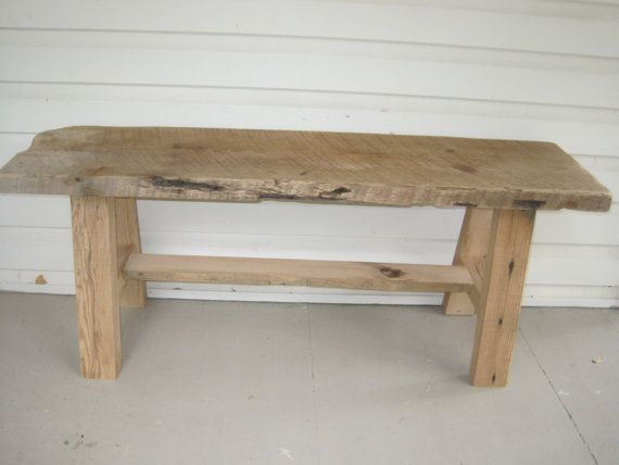 Reclaimed Barnwood Rustic Country Bench by AcornMill on Etsy