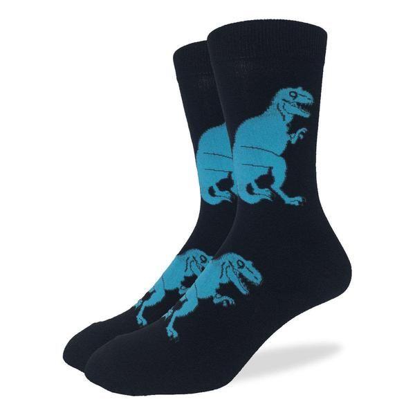 Men's Black T-Rex Dinosaur Socks