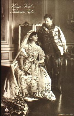 Coronation of King Charles and Queen Zita of Hungary (Emperor Karl and Empress Zita of Austria), December, 1916, Budapest.