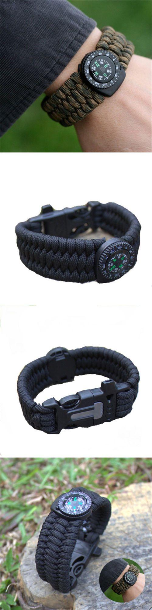 Paracord Bracelets 181413: 50Pcs Paracord Survival Bracelet Compass Flint Fire Starter Whistle Scraper Kit -> BUY IT NOW ONLY: $99.99 on eBay!