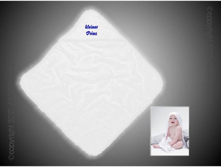 Baby Kapuzen-Handtuch mit Namen von Jajis-ART auf DaWanda.com