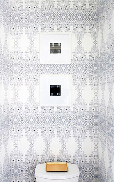 Eskayel | Akimbo 2 - Greyscale Wallpaper   (as seen on Domino: http://domino.com/bohemian-home-decor)