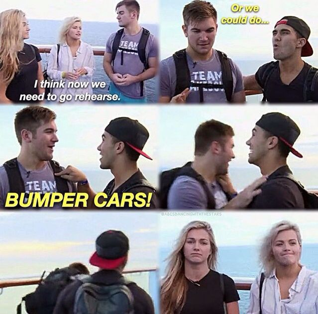 Come on Witney Carson and Lindsay Arnold, you should've seen that coming from Carlos PenaVega and Alek Skarlatos
