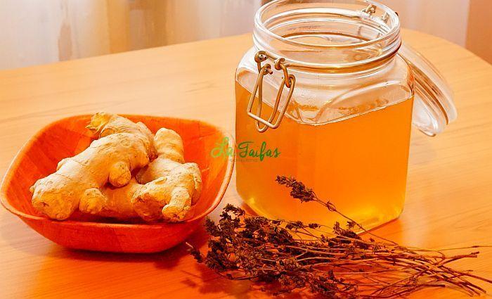 Sirop de GHIMBIR, CIMBRU și BUSUIOC, cu miere, la rece (video) | La Taifas