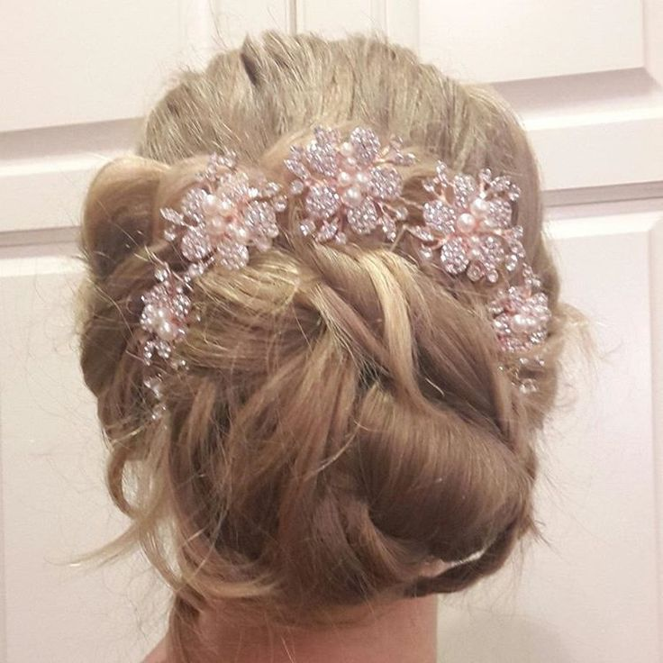"62 Likes, 8 Comments - Willow and Heather (@thebraidedsisters) on Instagram: ""Prom hair!! Elegant loose updo for prom night, or a wedding. . . . #thebraidedsisters #hair…"""