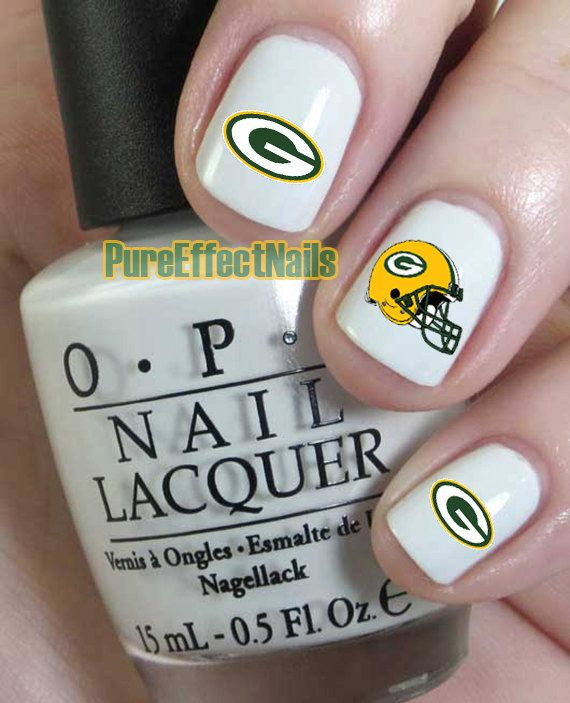Hey, I found this really awesome Etsy listing at https://www.etsy.com/listing/167743115/green-bay-packers-nail-decals