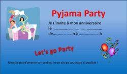 Anniversaire à thème enfant ado Pyjama Party   Idées anniversaires ...   Invitation anniversaire ...