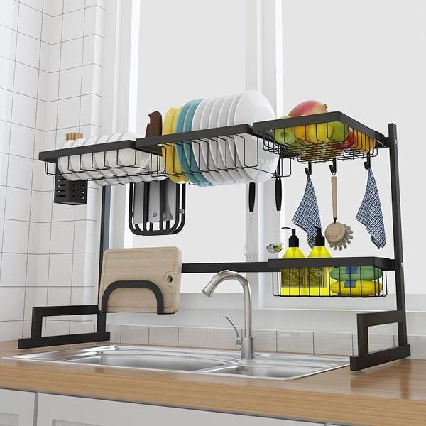 Stainless Steel Paint Kitchen Drain Dish Rack Drying Stainless Steel Kitchen Dish Racks