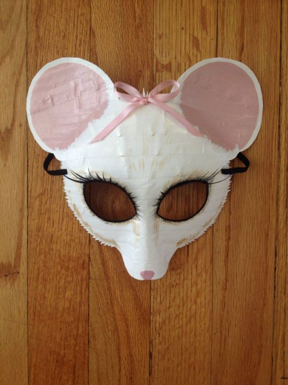 Mouse mask dormouse Angelina Ballerina Alice by HighMoonCreations