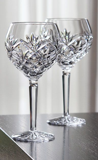 waterford huntley wine balloon pair crystal wine - Waterford Crystal Wine Glasses