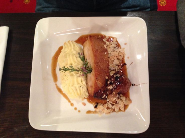 Pork Belly at the RAB Restaurant & Bar at the Grand Hotel Melbourne, Australia