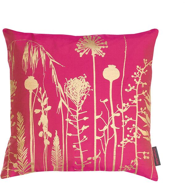 Beautiful Clarissa Hulse Seed Heads Cushion   45x45cm   Hot Pink/Antique Gold ($85). Pink  Throw PillowsPink ...