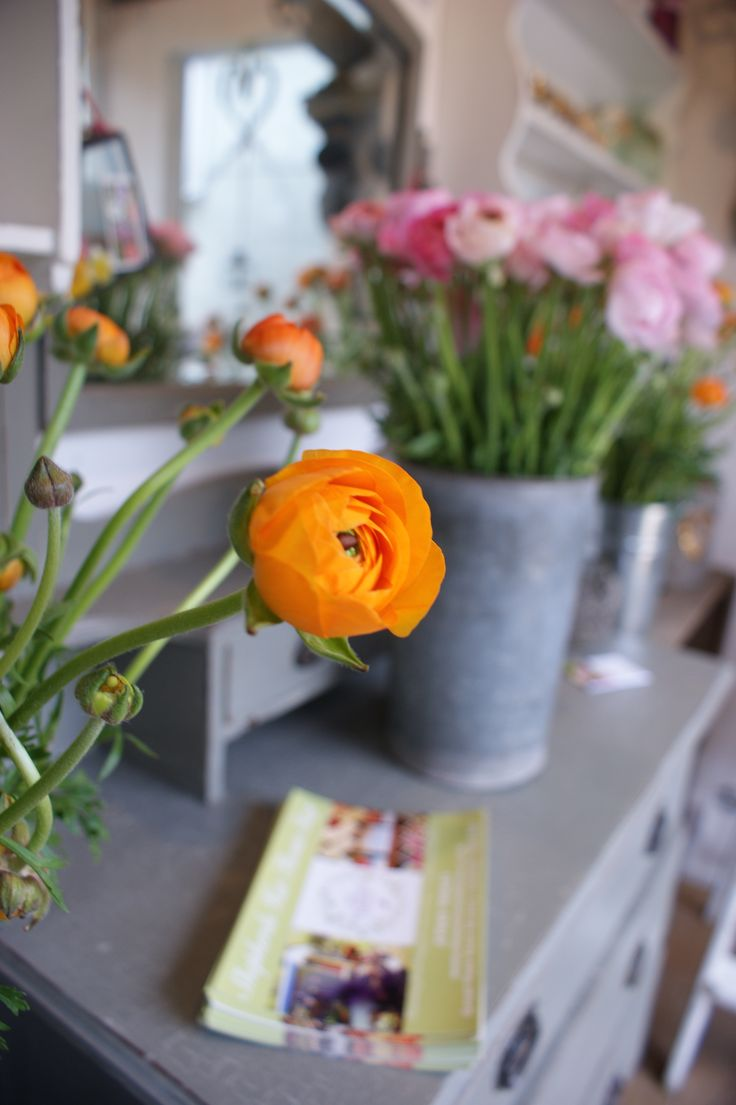 A pop of Orange from this gorgeous Ranunculus