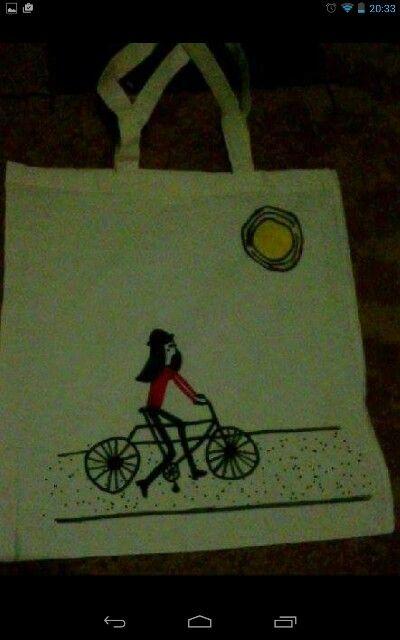 "Plátěná taška - ""žena v Paříži,,"