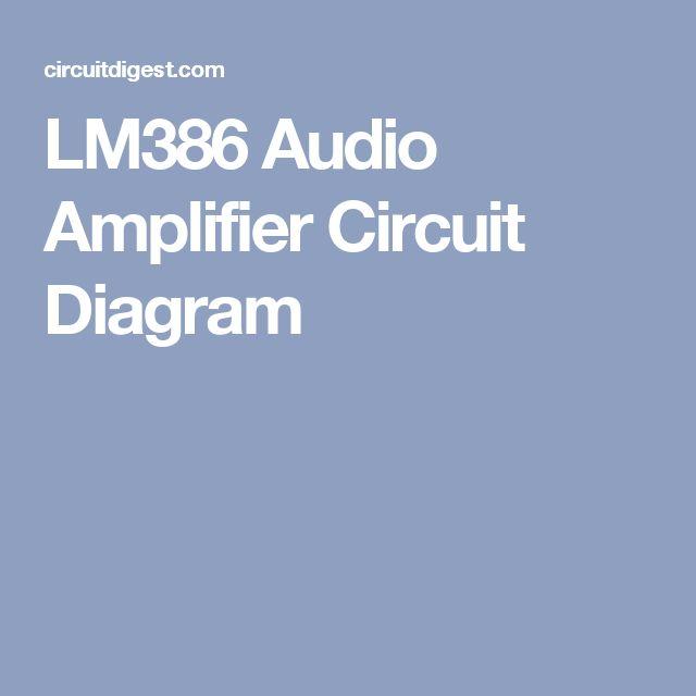pinterest 상의 audio amplifier에 관한 아이디어 상위 17개개 | 아두이노, Wiring diagram