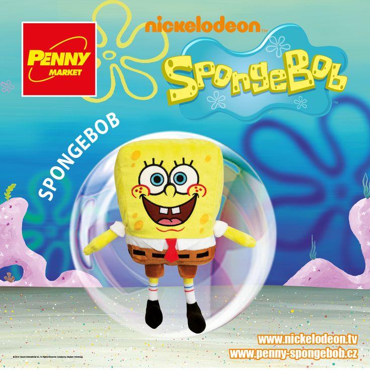 Mořská houba SpongeBob si rád dělá legraci ze svých kamarádů, ale ve skutečnosti to je pořádný dobrák. Kromě kamarádů je jeho největším koníčkem práce v Křupavém krabu, kde připravuje krabí hamburgery.   Sbírejte známky za nákupy v Penny a získejte plyšového SpongeBoba ! Za každých 200 Kč nákupu dostanete 1 známku. Více informací o známkách a cenách SpongeBoba a jeho kamarádů najdete na www.penny-spongebob.cz.