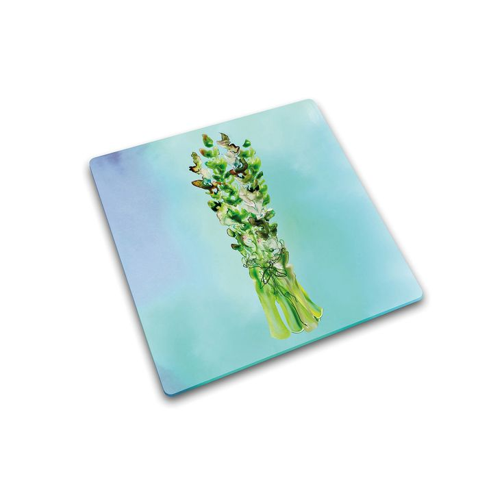 Joseph Joseph Asparagus Glass Chopping Board, Multicolor