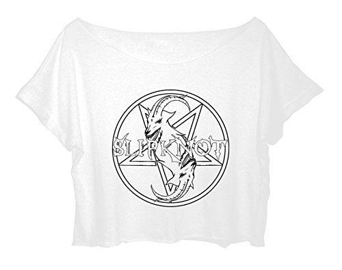 Best Logo Slipknot Crop Top Metal Band Shirt American Metal Slipknot Tee FREE SHIPPING