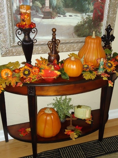 Fall Decorating Dining Room