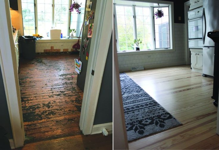 We refinished our 100 year old floors! ASHES + IVY AT