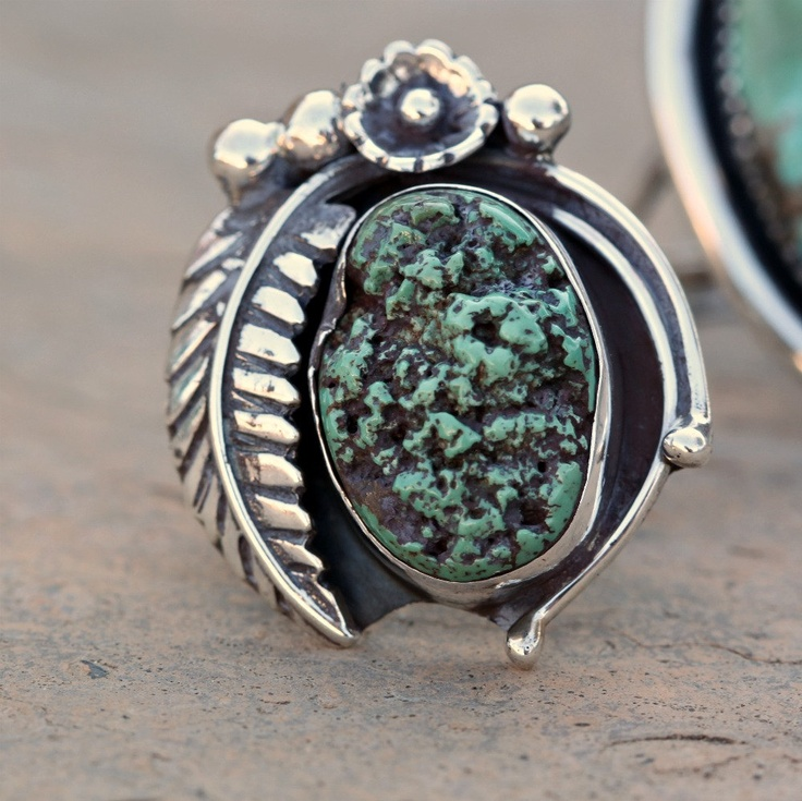 Ring | TobesOutpost Designs.  Sterling Silver and turquoise. | ca. 1970s.