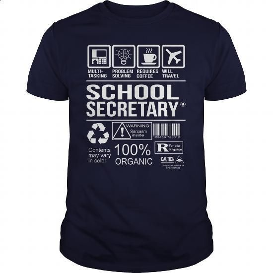 Awesome Shirt For School Secretary - #T-Shirts #make your own t shirts. ORDER HERE => https://www.sunfrog.com/LifeStyle/Awesome-Shirt-For-School-Secretary-Navy-Blue-Guys.html?60505
