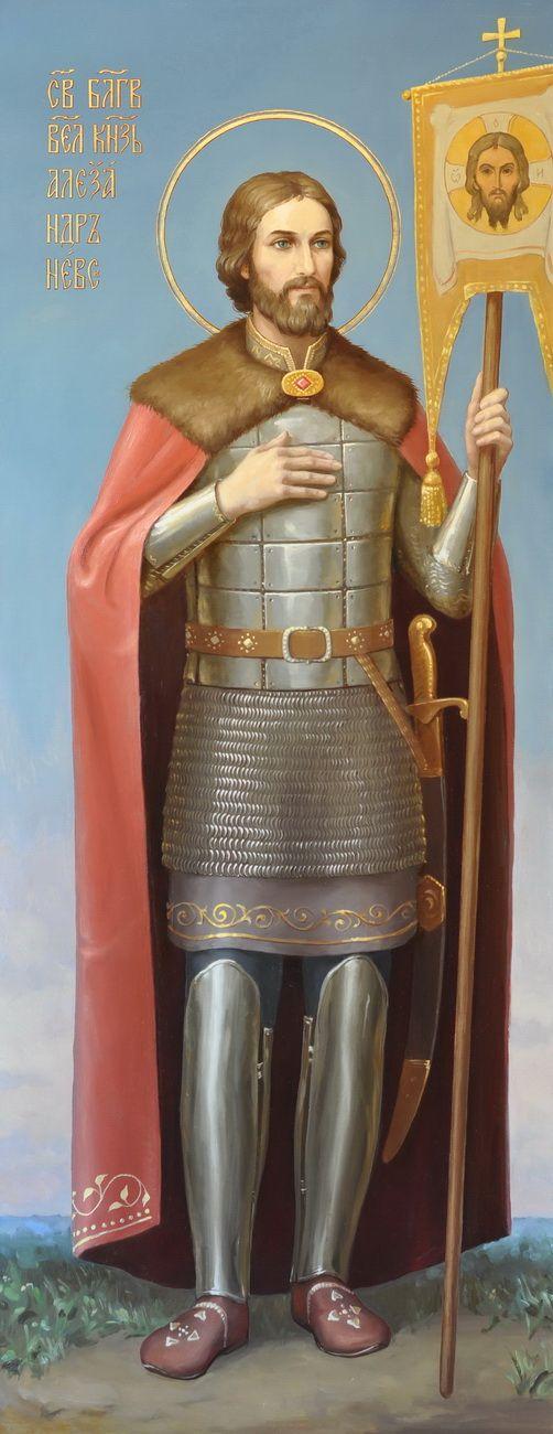 Святой благоверный великий князь Александр Невский. Икона Свято-Троицкой Александро-Невской Лавры, церковь Феодора Новгородского