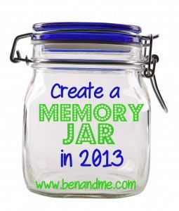 Instead of making New Year's resolutions to lose weight, exercise regularly, drink more water, or any of those other promises no one ever keeps . . . perhaps you'll resolve to remember in the coming year. Savor the moments, tuck them away in your special jar, and then bring them out next year on New Year's Eve, the way we plan to. I believe it could be a life-changing thing to do.