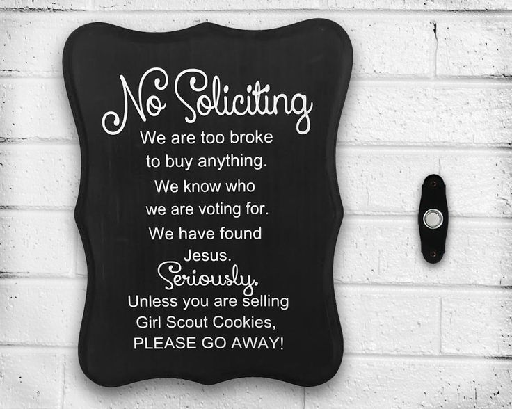 """Handmade """"No Soliciting"""" Sign - Front Door - Porch - Window - Welcome Sign - Beware of Dog - No Knocking - Do Not Ring Bell - Baby Sleeping by WoodWorxDesigns on Etsy https://www.etsy.com/listing/230645914/handmade-no-soliciting-sign-front-door"""