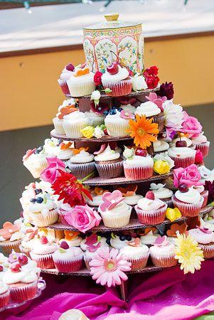 cascade of cupcakes