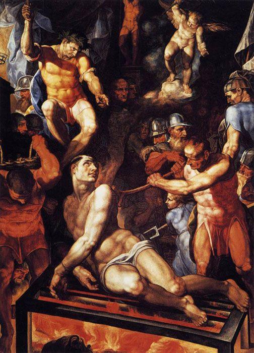 Martirio de San Lorenzo. Autor: Pellegrino Tibaldi, 1591.