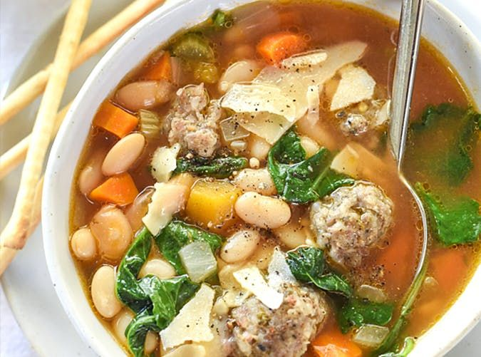 Slow Cooker White Bean and Tuscan Soup mediterranean slow cooker meals