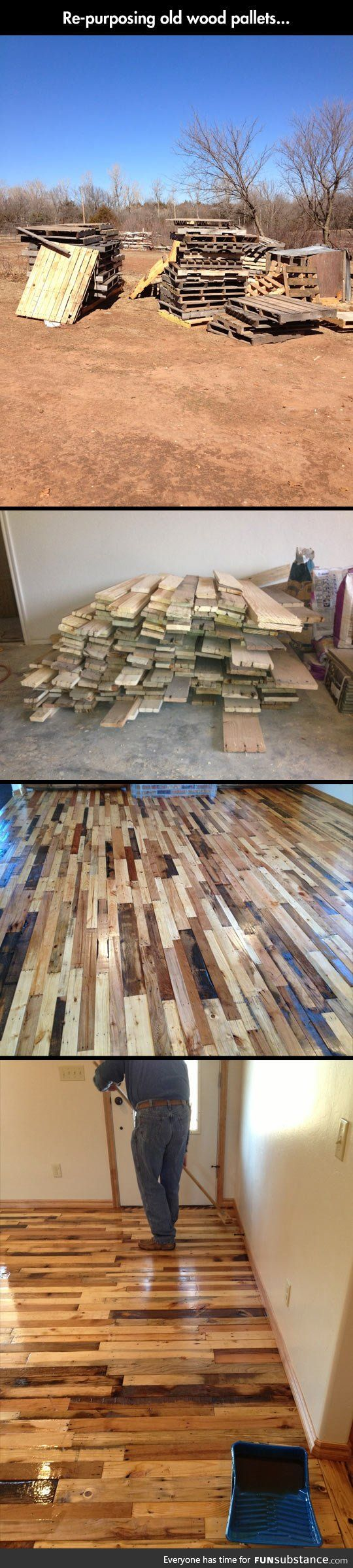 Reusing old woods pallets