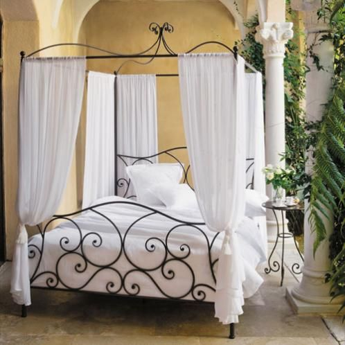 canopy bed 160 sheherazad from maison du monde so getting this but maybe spray paint white