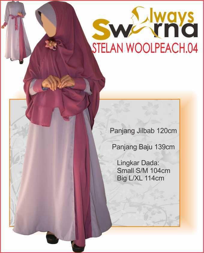 Baju Gamis Wanita Syar'i – Model Busana Muslim- Always Swarna stelan woolpeach.04 – dusty pink