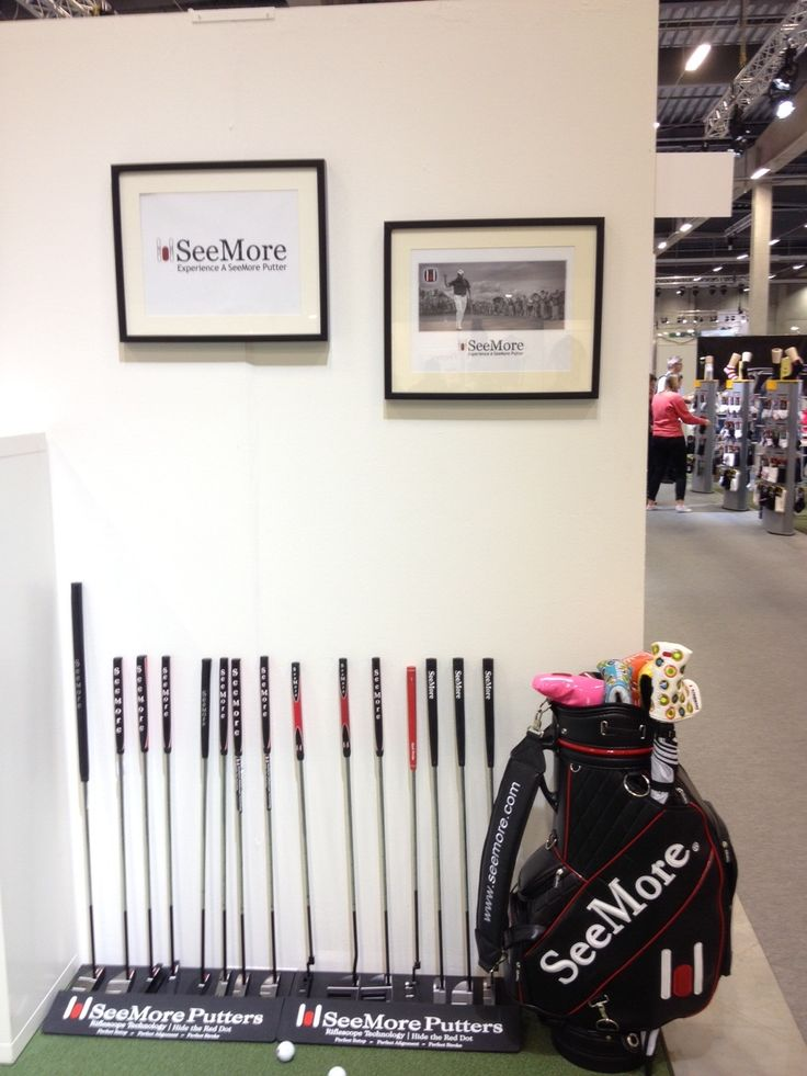 Sweden Golf Show presently going on!  Great Display.Sweden Golf, Seemor Putter