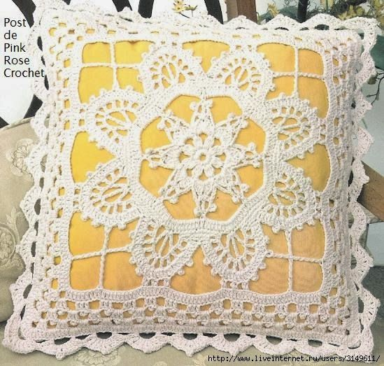 Pretty crochet pillow♥LCP-MRS♥ with diagram