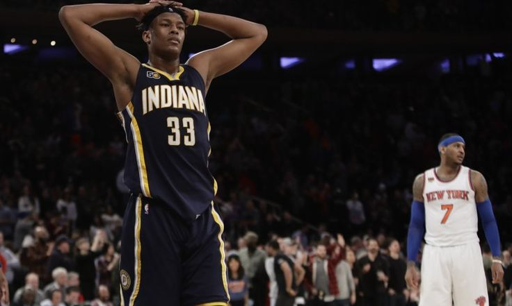 """What's behind Myles Turner's poorly timed slump for Pacers? = For most of his second season in the NBA, Myles Turner has been able to avoid any type of """"sophomore slump."""" The Indiana Pacers' young center has put together a worthy follow-up to his promising rookie campaign, handling the team's starting center duties all season and averaging 14.7 points, 7.2 rebounds and 2.1 blocks in 31.1 minutes per game. Turner has shown off his….."""
