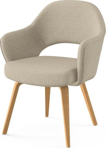 Saarinen Executive Arm Chair With Wooden Legs
