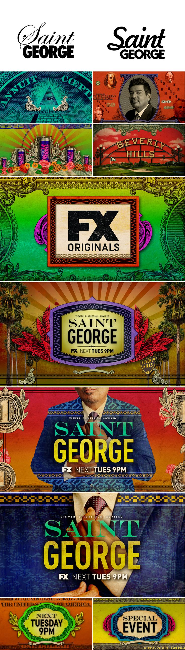 motion graphics/ storyboards/ styleframes | Saint George — FX by Hyejung Bae