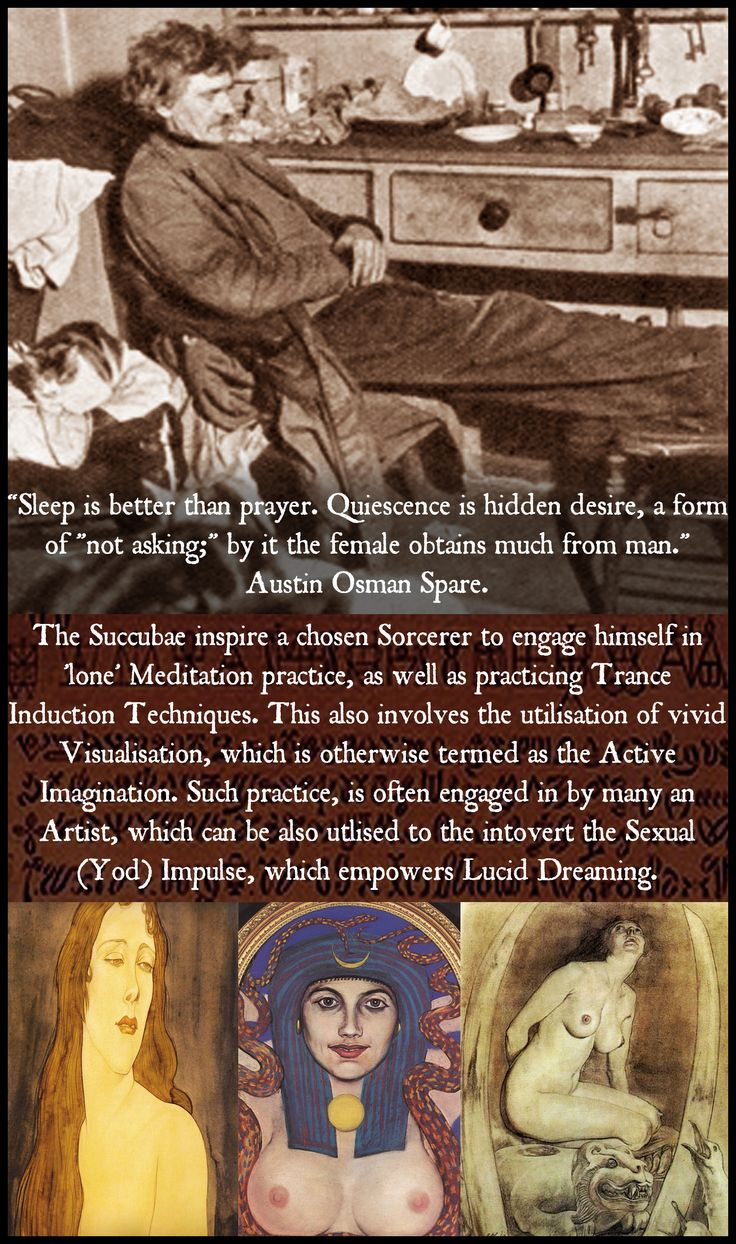 TAROT: HERMIT IX: Sleep Is Better Than Prayer: https://faustuscrow.wordpress.com/2015/05/04/goetia-girls-succubus-art-book-grimoire-1/: