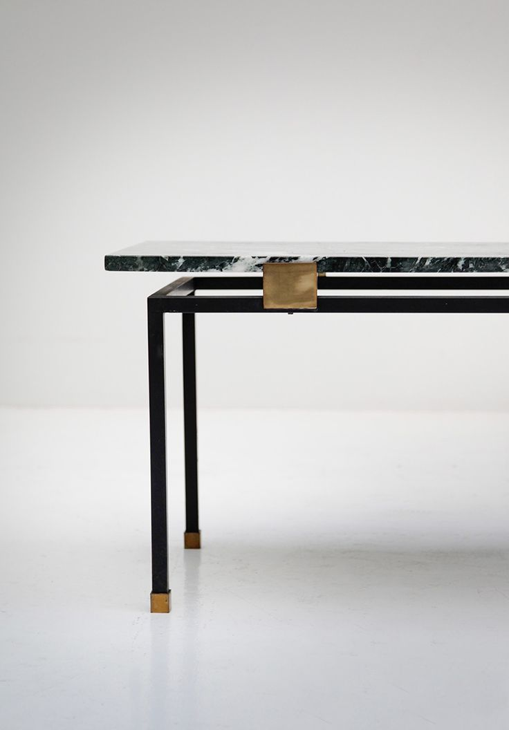 vintage and minimal: 1950s coffee table in green marble ... elevated essentials delivered quarterly. free parcel with sign up at http://minimalism.co/join